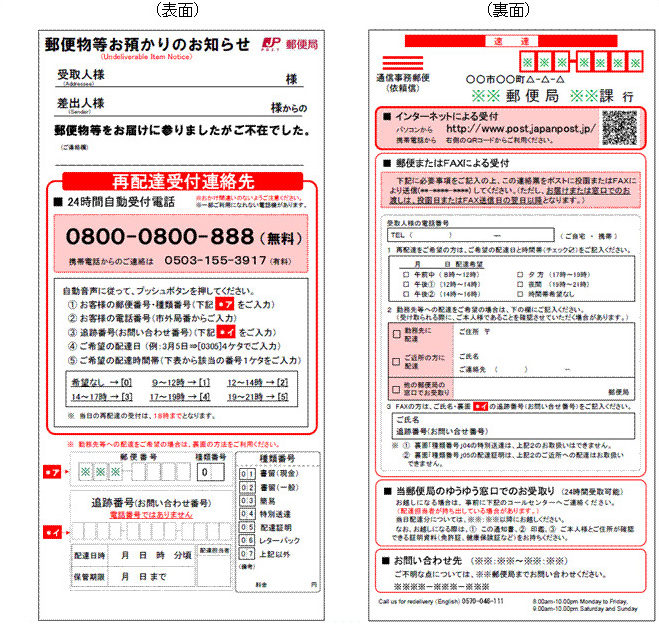 How to Schedule a redelivery (Japan Post)