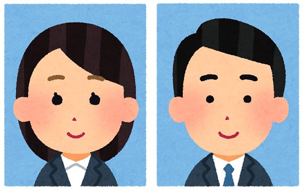 Illustration of ID photo for resume.