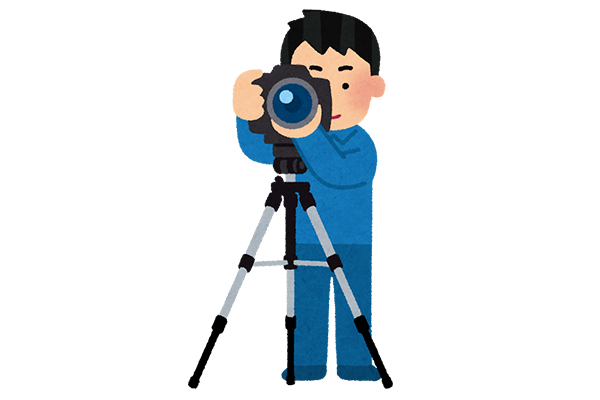 Illustration of professional photographer