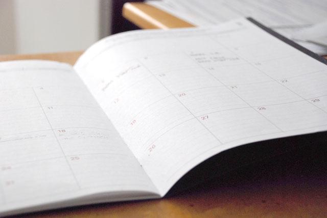 Schedule book.