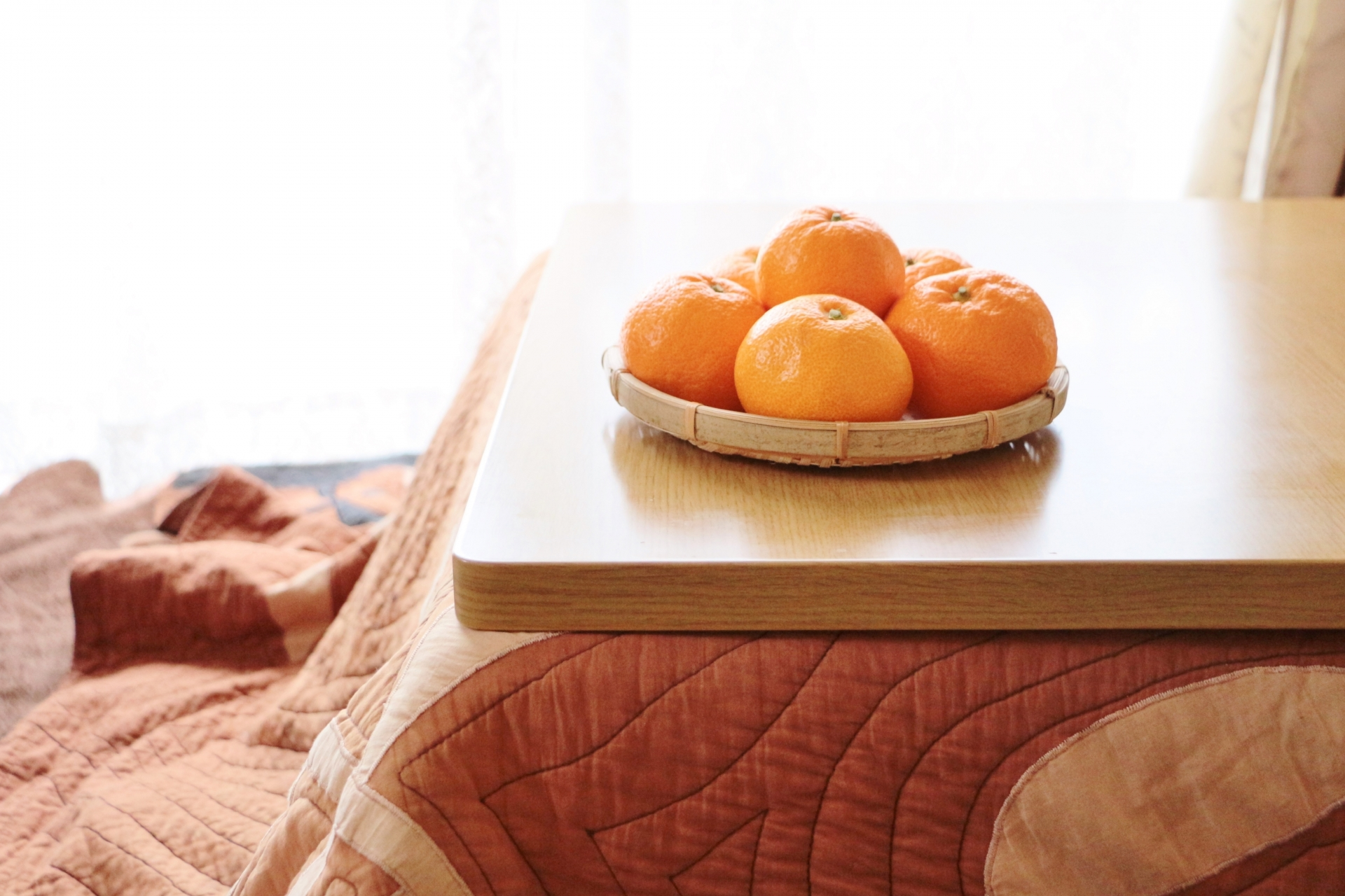 Kotatsu with Mandarins on it