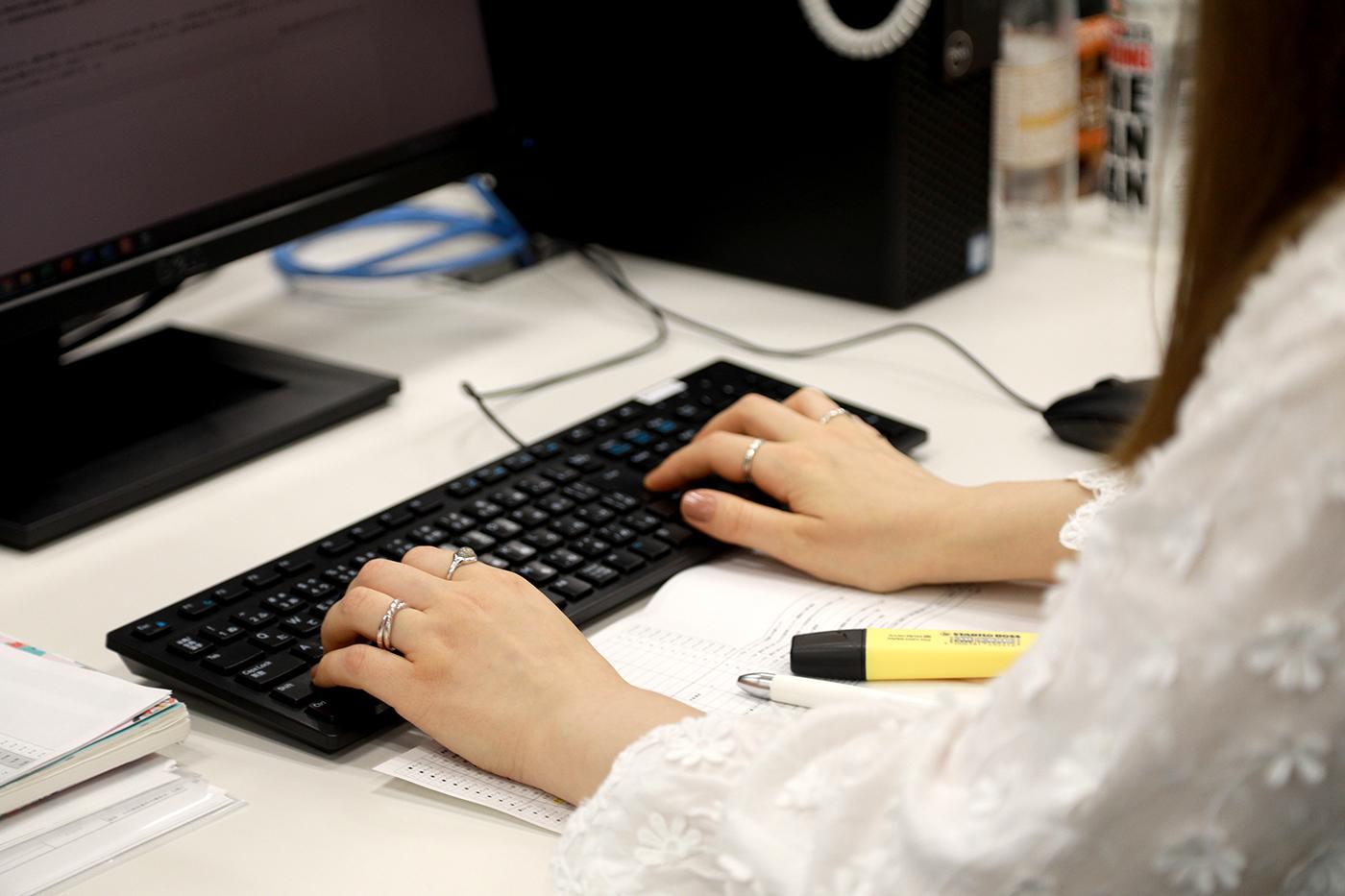 Viktoryia at work.