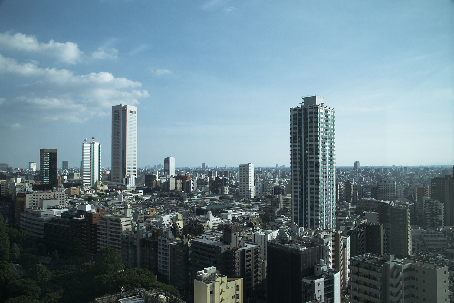 View over Tokyo from the office.
